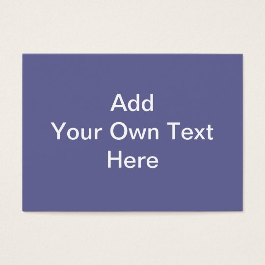Dark Purple with White Custom Text Business Card