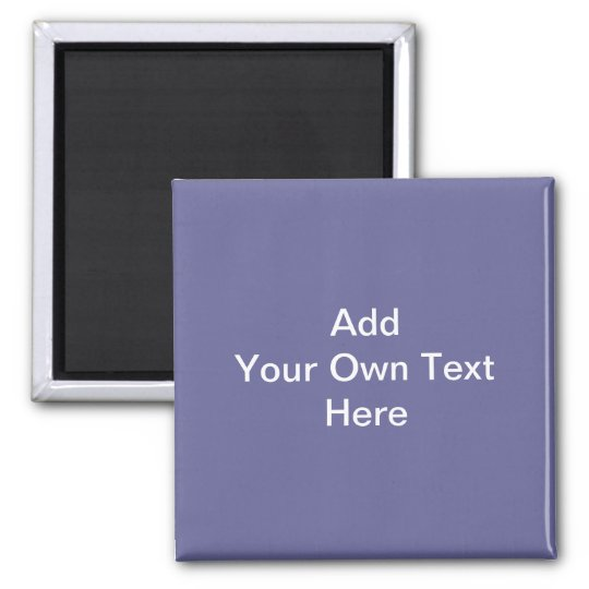 Dark Purple with White Custom Text Magnet