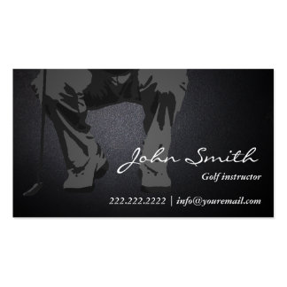 Dark Putt Golf Instructor Business Card