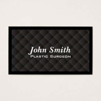 Dark Quilt Plastic Surgeon Business Card