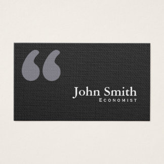 Dark Quotation Marks Economist Business Card
