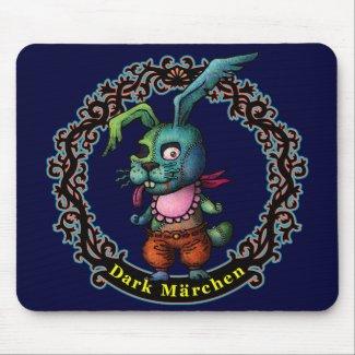 Dark Rabbit Mouse Pad