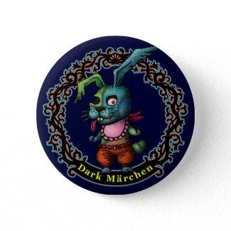 Dark Rabbit Pinback Button