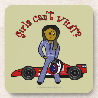 Dark Race Car Driver Coasters