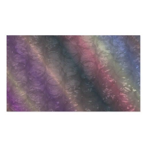 Dark Rainbow Bubble Wrap Effect Business Cards