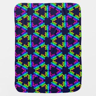 Dark Rainbow Spider Web geometric baby blanket