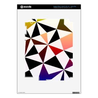 Dark Rainbow Triangle Design Skins For iPad 3