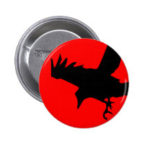 Dark Raven Pinback Button