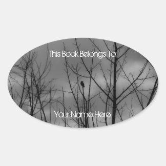 Dark Raven Oval Sticker