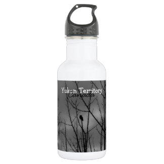 Dark Raven; Yukon Territory Souvenir Water Bottle