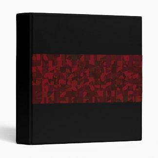 Dark Red Abstract Pattern. Binder