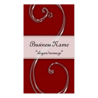 Dark Red Acrylic Chic Swirl Design Business Cards
