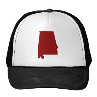Dark Red Alabama Shape Hat