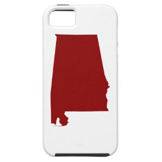 Dark Red Alabama Shape iPhone SE/5/5s Case