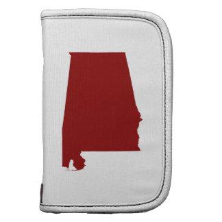 Dark Red Alabama Shape Folio Planner
