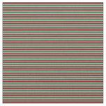 [ Thumbnail: Dark Red and Aquamarine Stripes Pattern Fabric ]