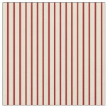 [ Thumbnail: Dark Red and Beige Lines Pattern Fabric ]