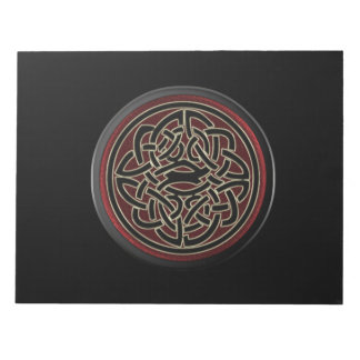 Dark Red and Black Metallic Celtic Knot Note Pad