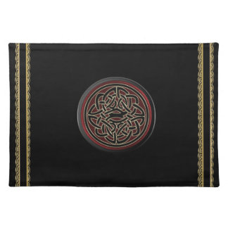 Dark Red and Black Metallic Celtic Knot Placemat