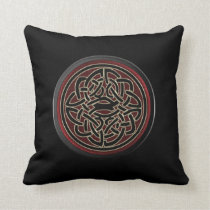 Dark Red and Black Metallic Celtic Knot