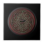 "Dark Red and Black Metallic Celtic Knot Tile<br><div class=""desc"">Dark Red and Black Metallic Celtic Knot, </div>"