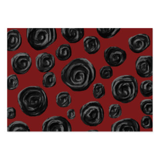 Dark red and black rose pattern. large business cards (Pack of 100)