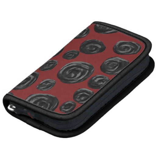 Dark red and black rose pattern. planners