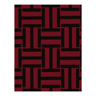 Dark Red and Black T Weave Letterhead