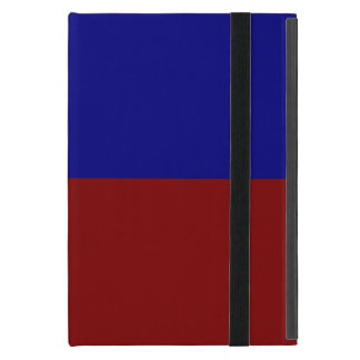Dark Red and Blue Rectangles Covers For iPad Mini