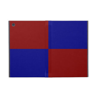 Dark Red and Blue Rectangles iPad Mini Cases