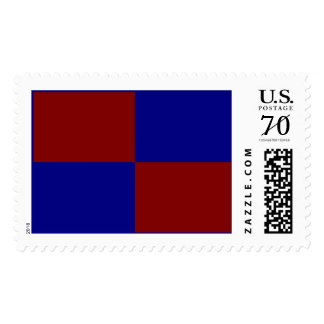 Dark Red and Blue Rectangles – Large Postage