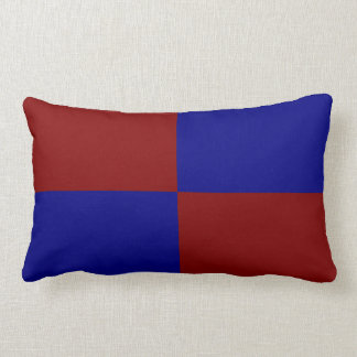 Dark Red and Blue Rectangles Throw Pillows