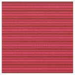 [ Thumbnail: Dark Red and Crimson Lined Pattern Fabric ]
