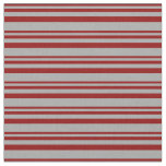 [ Thumbnail: Dark Red and Dark Gray Colored Lines Fabric ]