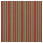 [ Thumbnail: Dark Red and Dark Olive Green Colored Pattern Fabric ]