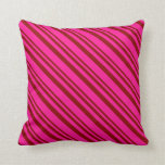[ Thumbnail: Dark Red and Deep Pink Colored Pattern Pillow ]