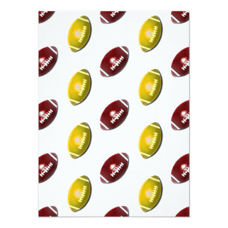 Dark Red and Gold Football Pattern Card