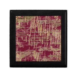Dark Red and Gold Modern Art Jewelry Box