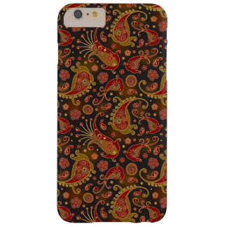Dark Red and Gold Paisley Pattern Barely There iPhone 6 Plus Case