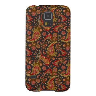 Dark Red and Gold Paisley Pattern Galaxy S5 Case