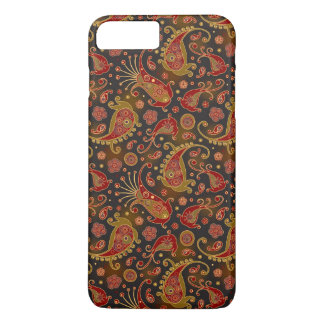 Dark Red and Gold Paisley Pattern iPhone 7 Plus Case