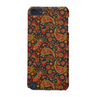 Dark Red and Gold Paisley Pattern iPod Touch (5th Generation) Cover