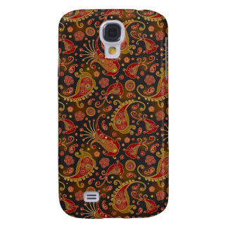 Dark Red and Gold Paisley Pern Samsung Galaxy S4 Cover