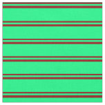 [ Thumbnail: Dark Red and Green Lined/Striped Pattern Fabric ]