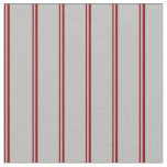 [ Thumbnail: Dark Red and Grey Lined Pattern Fabric ]