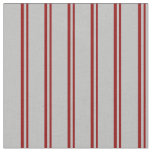 [ Thumbnail: Dark Red and Grey Striped/Lined Pattern Fabric ]