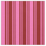 [ Thumbnail: Dark Red and Hot Pink Colored Stripes Fabric ]