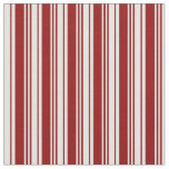 [ Thumbnail: Dark Red and Light Cyan Lined Pattern Fabric ]