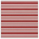 [ Thumbnail: Dark Red and Light Cyan Striped Pattern Fabric ]