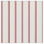 [ Thumbnail: Dark Red and Light Cyan Stripes Pattern Fabric ]